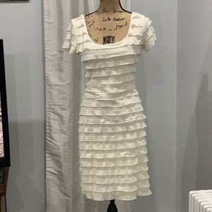 🛍Max Studio cream tiered dress size L